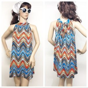 Super Cute MOD 60's  Retro Chevron Print Dress
